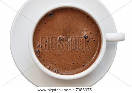 Coffee Cup With Saucer Top View