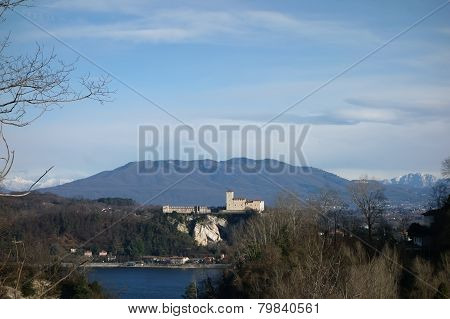 Angera Fortress On Maggiore Lake