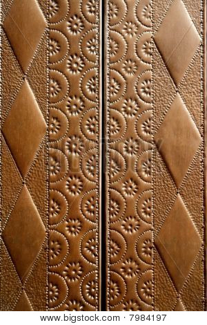 Embossed Brass Vintage Old Church Door Detail