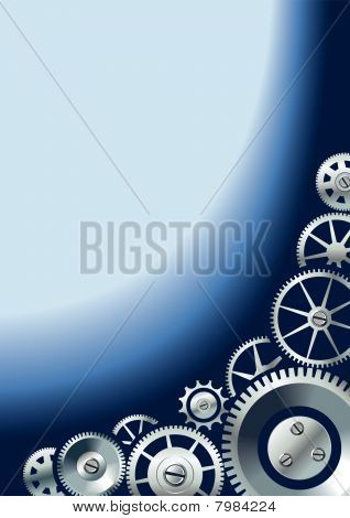 Mechanical background with gears