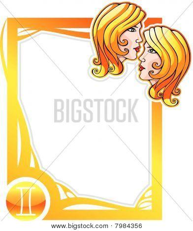 Zodiac frame series: Gemini