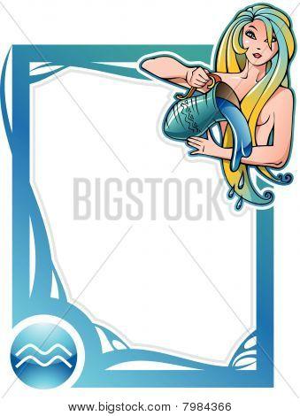 Zodiac frame series: Aquarius