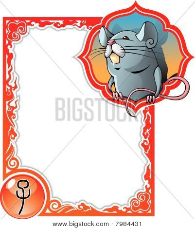Chinese horoscope frame series: Rat