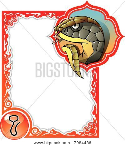 Chinese horoscope frame series: Snake