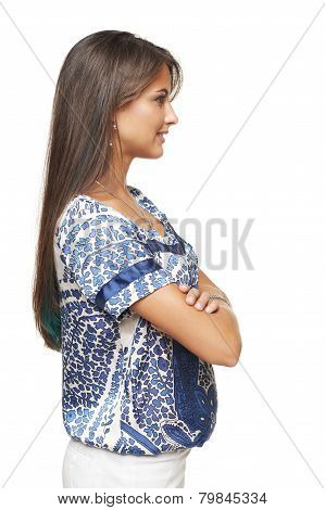 Profile of businesswoman