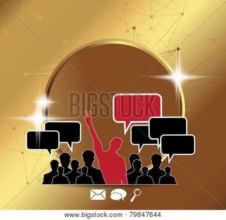 Social media marketing concept