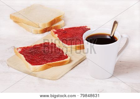 Breakfast Coffee Cup And Toast