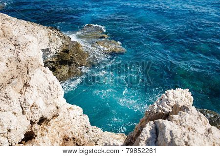 Mediterranean sea coast near Agia Napa, Cyprus