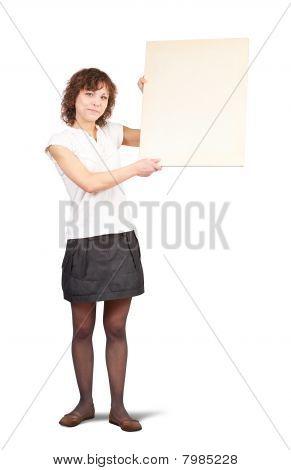 Girl Holding A Banner