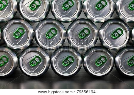 Pattern From Much Of Drinking Cans