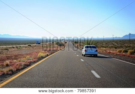 The Highway Through Arizona Desert Land