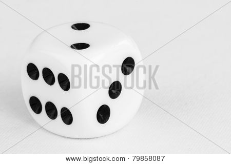 Macro Of Single Dice With Shallow Depth Of Field