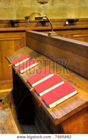 Bibles in choir chapel.