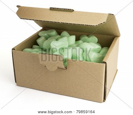 Packaging Box With Green Foam
