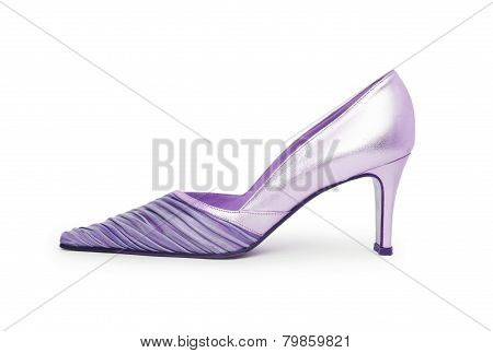 Biege High Heel Shoe Isolated On White