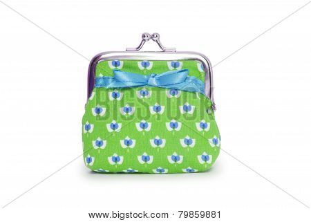 Change Purse Isolated On White Background