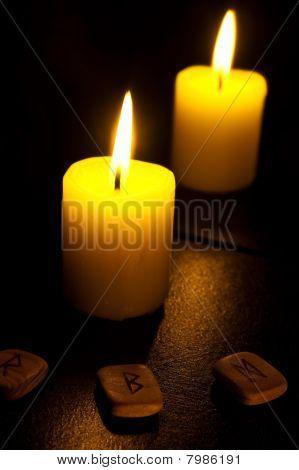 Candle and fleece