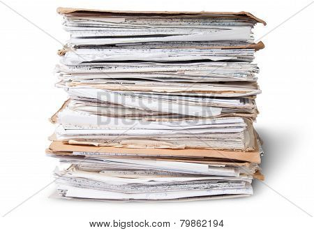 In Front Old Files In Stack