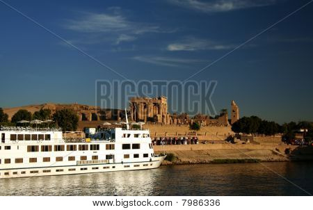 Nile Cruise Boat At Kom Ombo