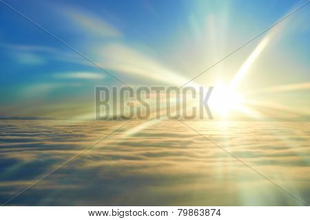 Sky, Sunset Sun And Clouds