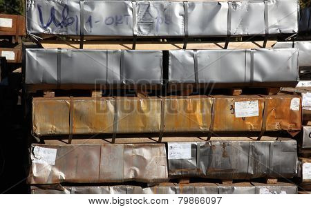 Warehouse For Shipping, Handling And Storage Of Sheet Metal