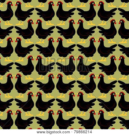 Cartoon Hen Pattern