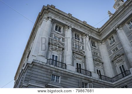 Urban, Royal Palace of Madrid, located in the area of the Habsburgs, classical architecture