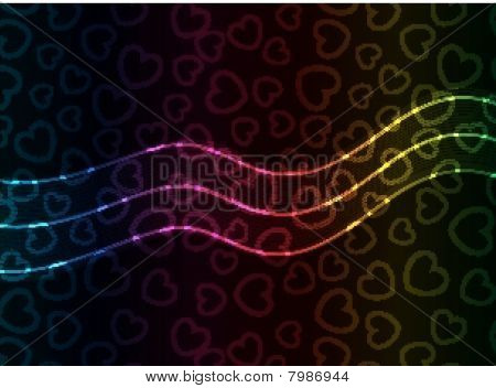 Abstract Vector Heart Background.