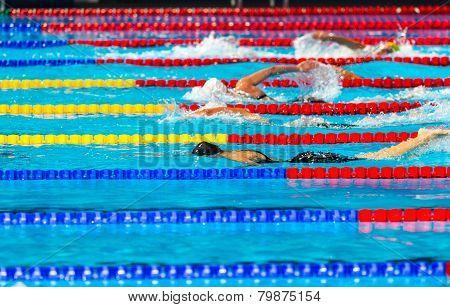 Women Swimming Race