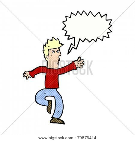 cartoon urgent man with speech bubble