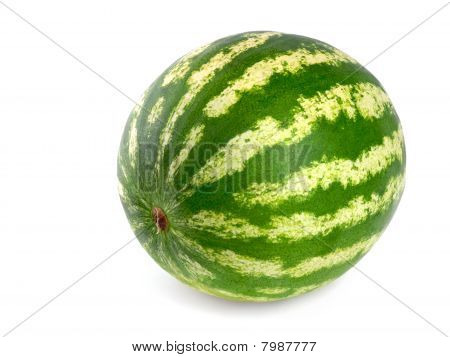 Perfect Watermelon On White Background
