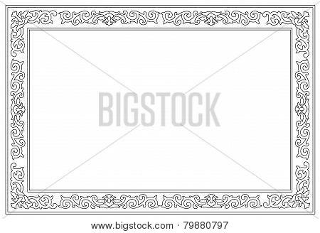 Floral Border Pattern Frame