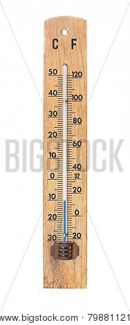 Thermometer showing -10 degrees C