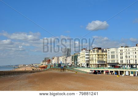 Brighton England - The Town And Beach On A Spring Day