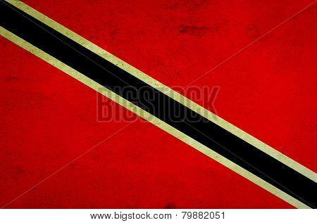 Grunge Trinidad and Tobago Flag .