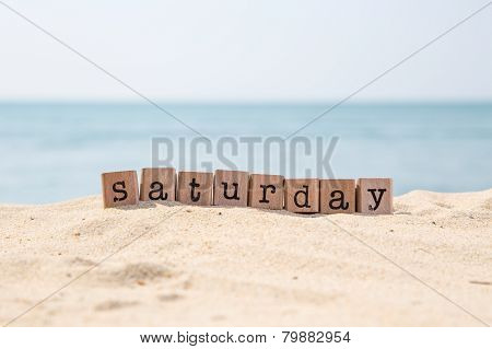 Saturday Word And Beautiful Sea View