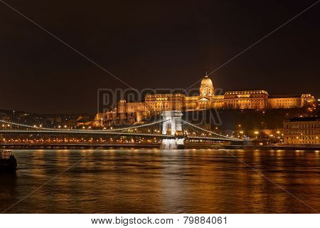 Buda Castle by the Danube river