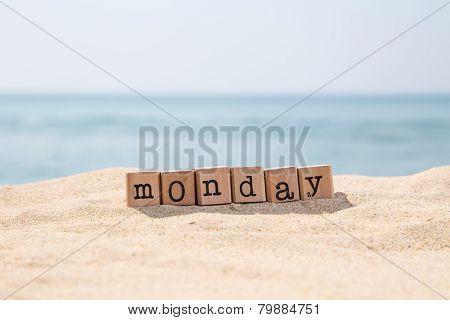 Monday Word On Sunny Beach