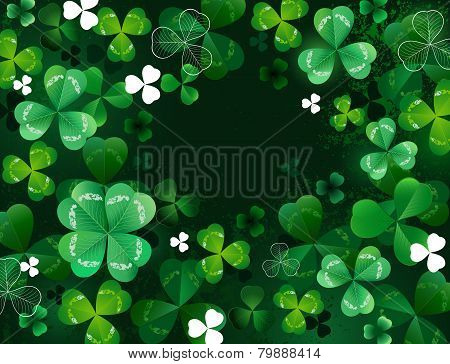 Background With Shamrock