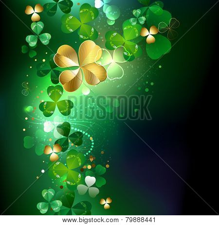 Glowing Golden Shamrock