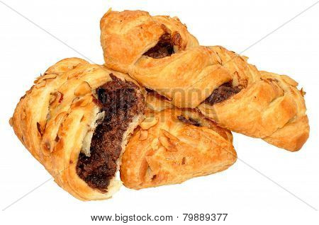 Chocolate And Hazelnut Pastry Plaits
