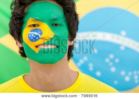 Brazilian Flag Portrait