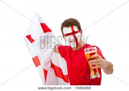 Homem Inglês patriótica