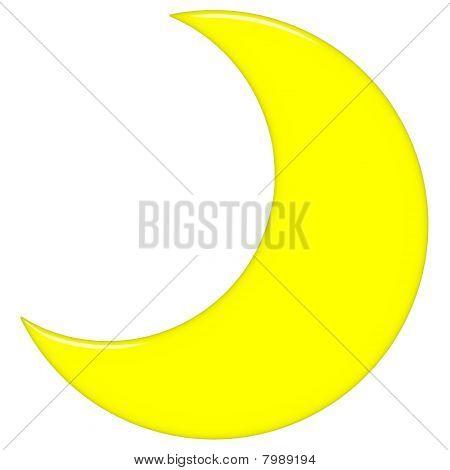 2D Crescent Moon