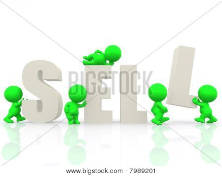 3D People Around The Word Sell