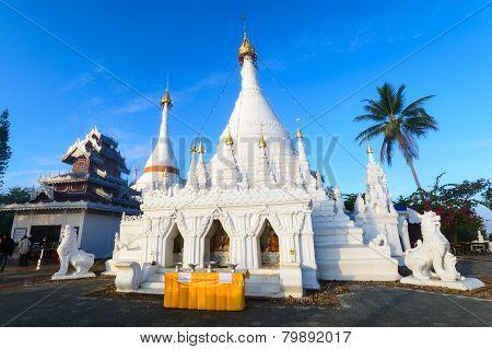 Wat Prathat Doi Kong Mu. Maehongsorn, Thailand