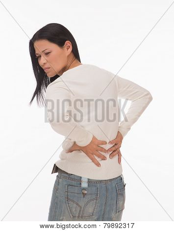 Woman feel pain in back
