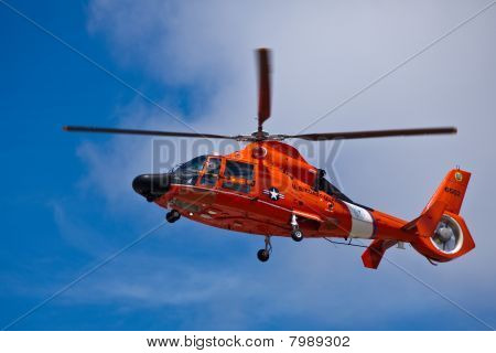 SAN CARLOS, CA - JUNE 19: Helicopter Eurocopter HH-65 Dolphin on display at the Vertical Challenge
