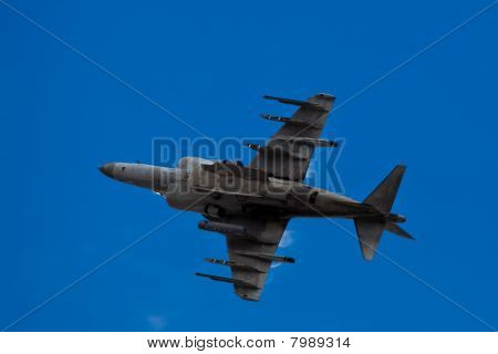 SAN CARLOS, CA - JUNE 19: AV-8B Harrier Jump Jet on display at the Vertical Challenge 2010, June 19t