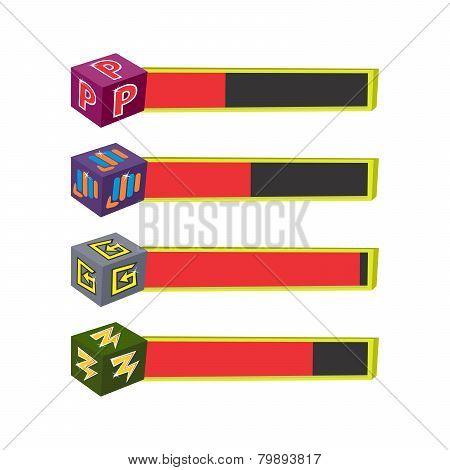 life bar set game asset icon
